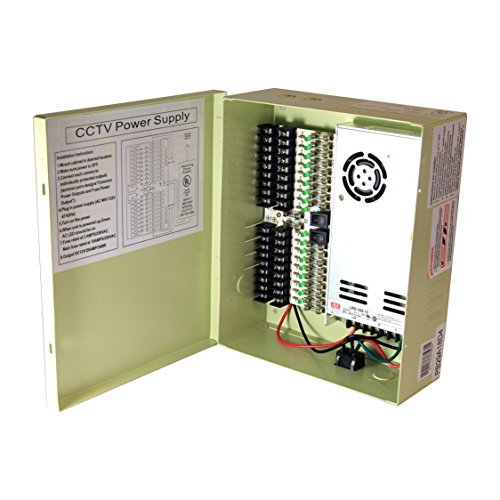 InstallerCCTV 18 Output 29 Amp 12V DC CCTV Distributed Power Supply Box for Security ()