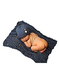 Newborn Baby Crochet Knitted Photo Photography Prop Costume Hat Beanie Wrap NEW