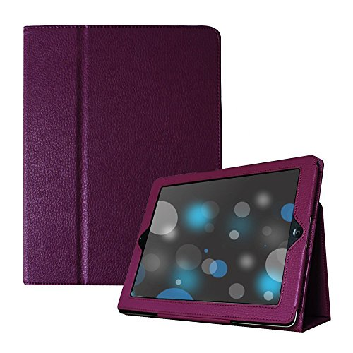 - iPad 2/3/4 Case, UrSpeedtekLive Folio Case Cover for iPad 4,iPad 3/2 - Purple