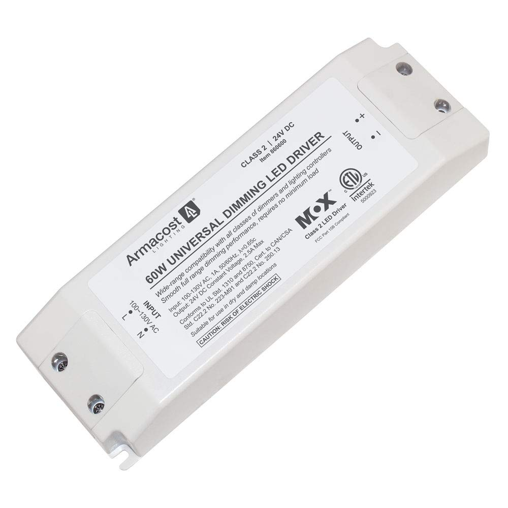 24 Watt White Armacost Lighting 860240 24 Volt Universal LED Dimmable Driver