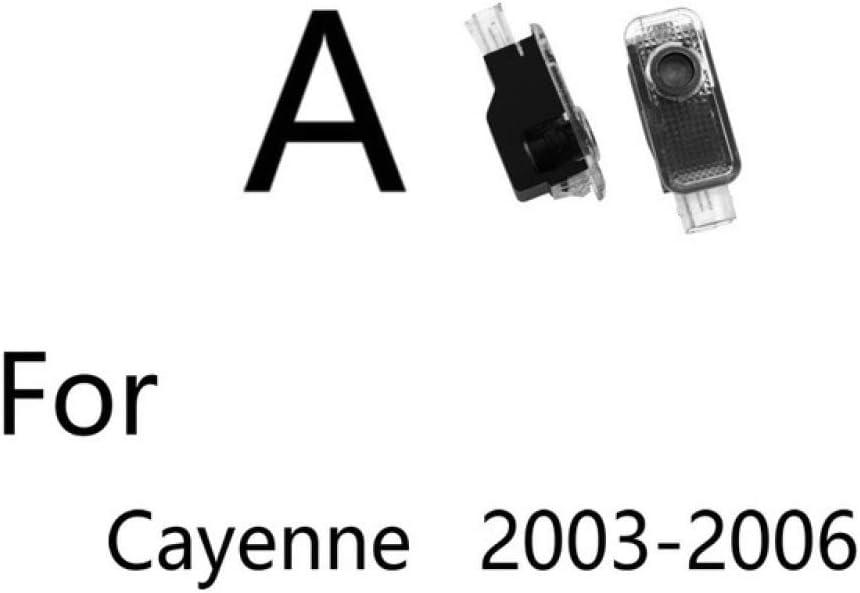 per Porsche Panamera Cayenne Boxster Cayman Macan 911 S4 Carrera4 N//A Logo Auto Luci Logo Auto Luce di Benvenuto per Porta Auto Ghost Light Shadow Projector Logo Light