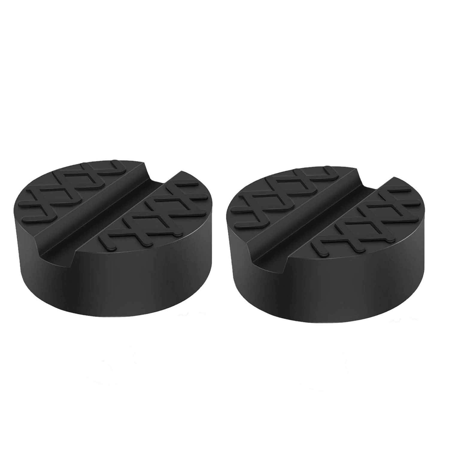 Adaptateur /à Coussin /à Sol Car Jack Rubber Pad 2 Pack Universal Slotted Frame Rail Support Protector Bloc Trolley Jack
