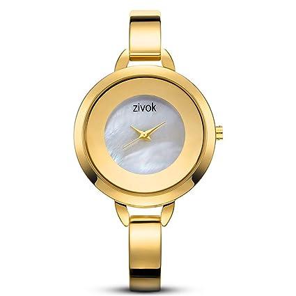CWYPB Relojes de Pulsera de Cuarzo de Las Mujeres, Elegante Acero Inoxidable Correa Relojes Moda