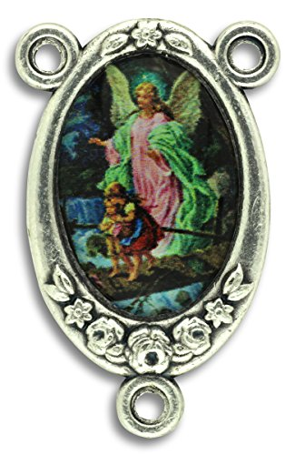 LOT of 5 - Rosary Center Guardian Angel Center Piece Color Image. 1 inch