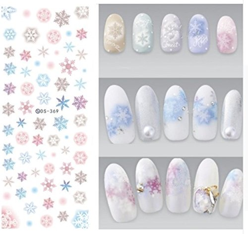 1 Sheets New Year Christmas Xmax Deer Harajuku Nail Art Stickers Water Transfer Nails Wrap Paint Tattoos Stamper Plates Templates Tips Splendid Popular Xmas Winter Snow Holidays Decals Kit, -