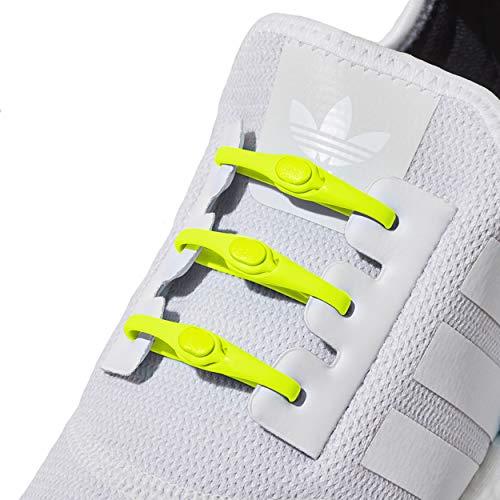 Giallo Unica Lacci Neon Elastici Ogni Scarpa Adatti 0 Allacciano 14 Hickies Non Per Misura Pezzi Scarpe Performance 2 Ad Si HfUq8