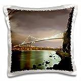 Danita Delimont - Bridges - Lions Gate Bridge, Stanley Park, British Columbia-CN02 PCL0252 - Paul Colangelo - 16x16 inch Pillow Case (pc_70745_1)