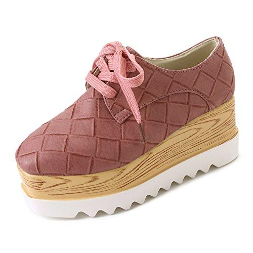 Dick Bottom Pine Cake Square Head Shoes,British Style Vintage Leder Schuhe,Student Joker Womens Schuhe A