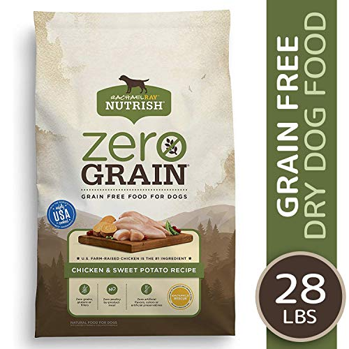 Rachael Ray Nutrish Zero Grain Chicken & Sweet Potato Recipe Dry Dog Food, 28 Pounds, Grain Free