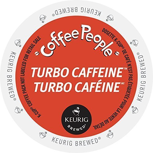 Coffee People Turbo Caffeine Coffee K-Cups, 24 Count