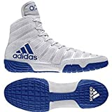 adidas Adizero Varner Men's Wrestling Shoes, Grey/Royal/White Size 4.5
