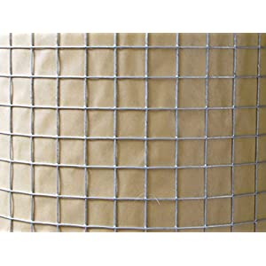 Gophers Limited Double Galvanized Wire Mesh, 18 Gauge, 3/4 Inch Square, 100 Foot X 48 Inch