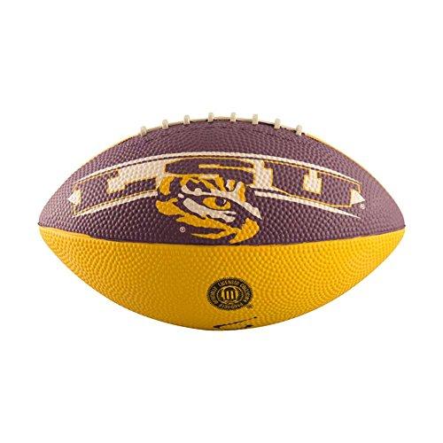 Logo Brands NCAA LSU Tigers Mini Size Rubber Football, Brown