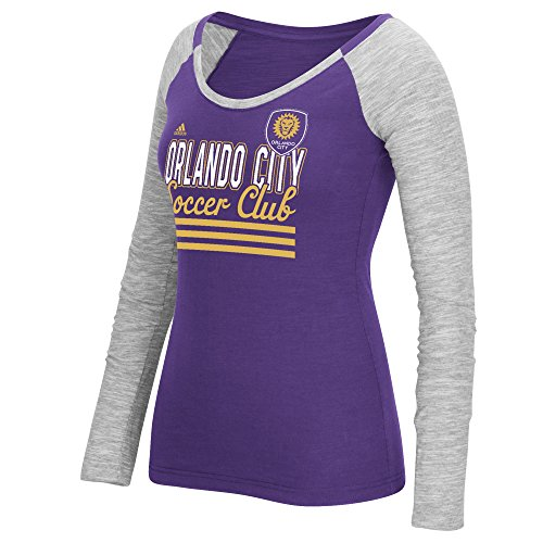 City Stack - MLS Orlando City SC Women's 3-Stripe Stack Long Sleeve Tee, Purple, X-Large