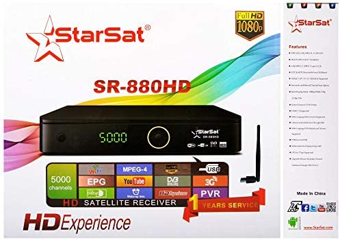 SR-880HD-Full HD 1080P, 5000 Channels, Wifi, USB, EPG, YouTube, 3G
