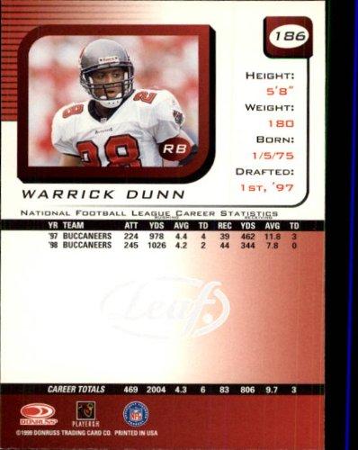 1999 Leaf Rookies and Stars Football Rookie Card #186 Warrick Dunn