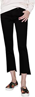 product image for James Jeans Women's Straight Leg Jean with Hi Lo Hem in Flat Black