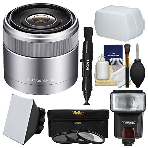Used, Sony Alpha E-Mount E 30mm f/3.5 Macro Lens with Flash for sale  Delivered anywhere in USA