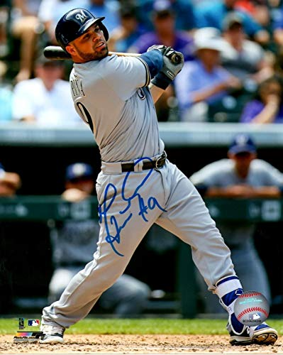 Catcher Manny Pina Autographed 16x20 Photo #1 Signed - Certified Authentic