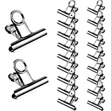 Zhehao 20 Pieces Stainless Steel Clips Chip Food Bag Clips Air Tight Clips for Kitchen Office School, 2 Sizes