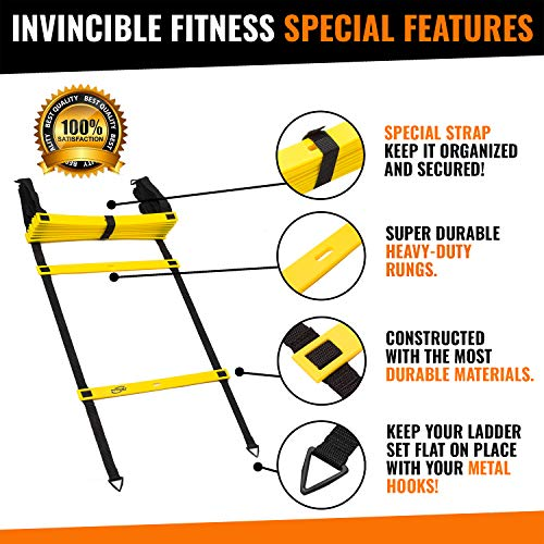 Agility Ladder Speed Training Equipment Set Improves Coordination Power Speed