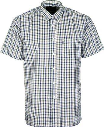 7bf9eb8d Mens Champion Short Sleeve Shirt Doncaster Casual Checked Shirt Shirts