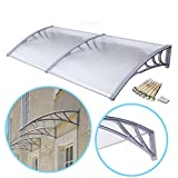 ZENY 40''x 80'' Window Overhead Door Awning Polycarbonate Cover Front Door Outdoor Patio Canopy Sun Shetter,UV,Rain Snow Protection Hollow Sheet