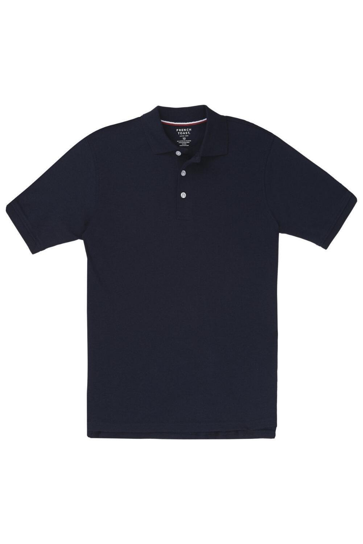 French Toast Short Sleeve Interlock Knit Polo Boys Navy 14