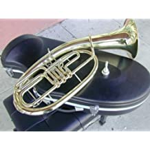 German Country Style Bb 3 Rotary Baritone. Tenor Horn