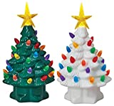 Mr Christmas 19306 Nostalogic Christmas Tree, Porcelain, 7'' Tall (Pack of 12)