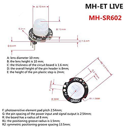 Mucjun Sr602 Módulo Detector De Sensor De Movimiento ...