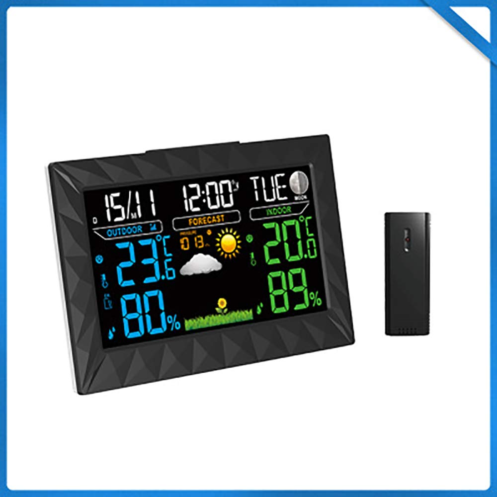 WEIWEI Digital Thermometer Hygrometer, Temperature and Humidity Trend Indication Alarm Function LED Backlight by WEIWEI