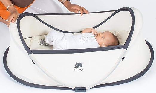 Deryan Bambin - Cuna de viaje, color kaki: Amazon.es: Bebé