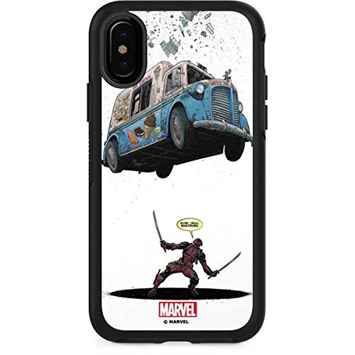 Skinit Marvel Deadpool OtterBox Symmetry iPhone X Skin - Deadpool I Scream For Ice Cream Design - Ultra Thin, Lightweight Vinyl Decal Protection