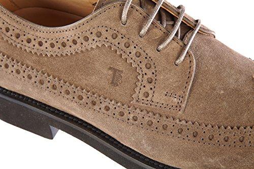 Tod's chaussures habillées classiques homme en daim derby marron