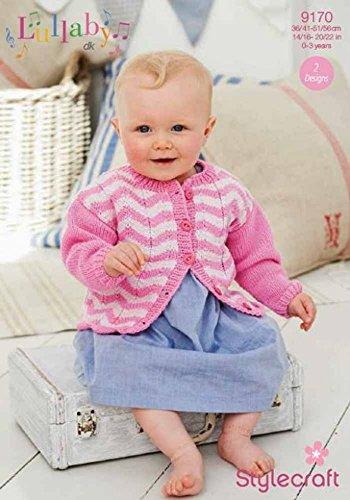 Stylecraft Baby Cardigan & Sweater Lullaby Knitting Pattern 9170 DK