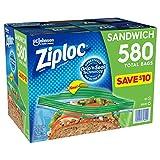 Ziploc Easy Open Tabs Sandwich Bags 580, 145