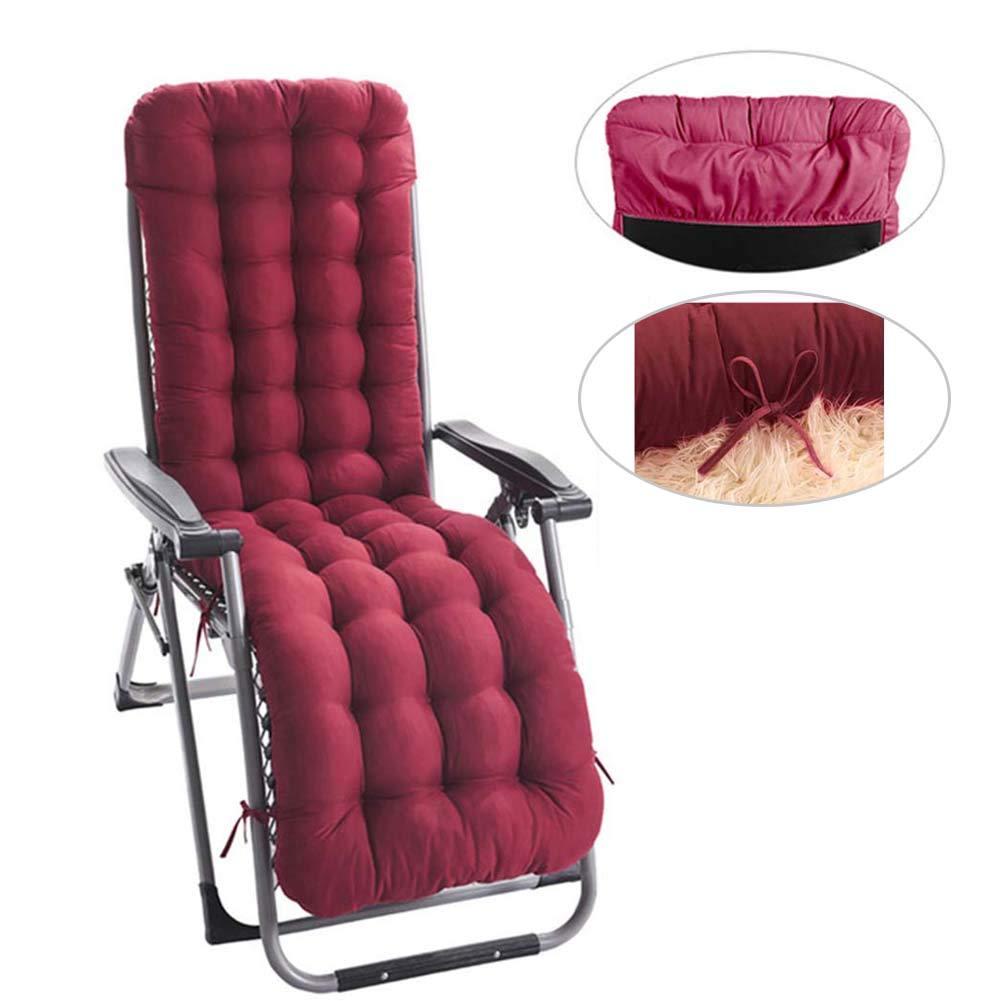 siruipu Patio Chaise Lounger Cushion, 61Inch Thickened Chaise Longue Cushion Recliner Cushions Rocking Chair Cushion Sofa Cushion Tatami Mat Window Mat Seat Cushion