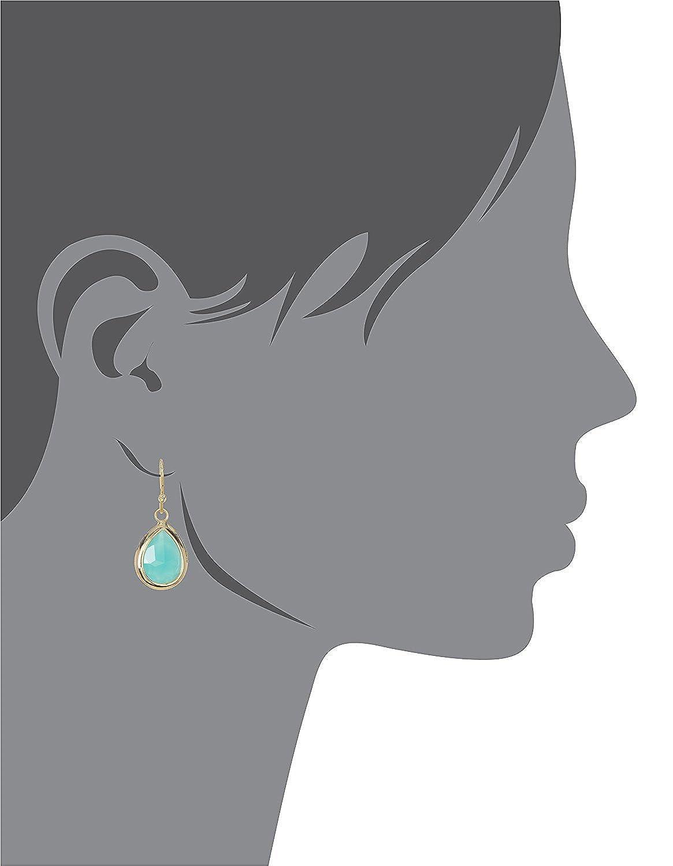 ite Gold Clad Pear Shaped Wholesale Gemstone Fashion Jewelry Drop Earrings
