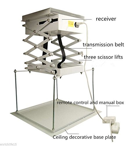 1m Electric Projector Bracket Motorized Projector Lift hanger Ceiling Mount Bracket For Cinema school (220V) by BAOSHISHAN (Image #2)