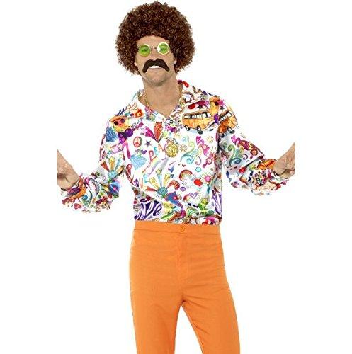 Smiffys Men's 60s Groovy Shirt, Medium -