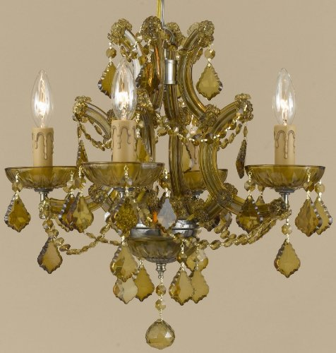 Crystorama 4405-AB-GT-MWP Crystal Five Light Mini Chandeliers from Maria Theresa collection in - Mwp Gt Crystal Ab