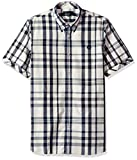 Fred Perry Blue Two-Colour Check Cotton Shirt Medium