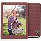 Nixplay Seed 10 Inch WiFi Cloud Digital Photo Frame with IPS Display, iPhone & Android App, Free 10GB Online Storage and Motion Sensor (Mulberry)