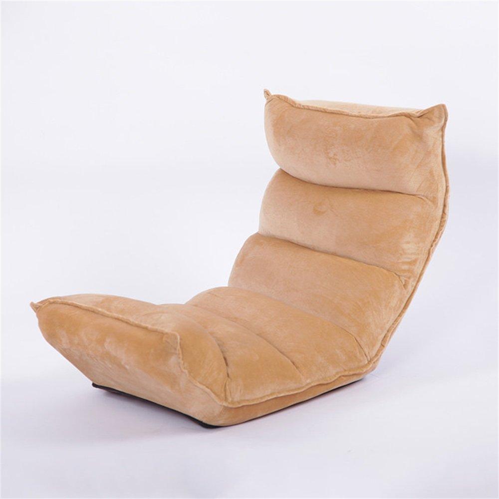 ベンチ 床の椅子のベッドコンピュータの椅子の背もたれの怠惰な単一の小さいソファの折り畳み式の寮の窓の窓の床のソファ(125 * 52 * 15cm) (A++) (色 : シャンパン) B07DFNCLFZ  シャンパン