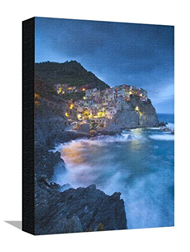 Cotton Levante (Manarola, Cinque Terre, Riviera Di Levante, Liguria, Italy Stretched Canvas Print by Jon Arnold - 12 x 16 in)
