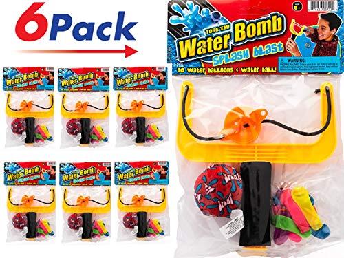 Slingshot Water Balloons Splash Ball Kit. (Pack of 6 Sets) by 2CHILL | Item ()