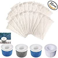 Pool Skimmer Socks, Perfect Savers for Filters, Baskets, and Skimmers , Fine Mesh Screen Sock Liner for Basket Filters by lanbao ?20pcs?