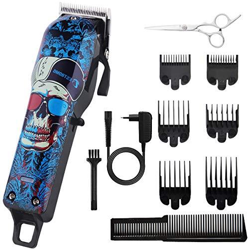 BESTBOMG Haarschneidemaschine Profi Graffiti Haarschneider Herren Haartrimmer Bartschneider Barttrimmer Präzisionstrimmer Langhaarschneider Männer mit 2000mAh Akku (Y1)