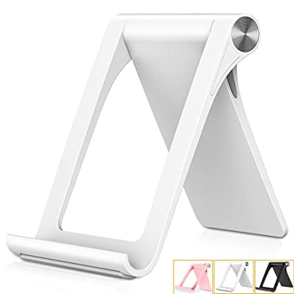 Samsung Galaxy S10 S9 S8 S7 Edge S6,Foldable Desktop Android Smartphone Holder,Gold Adjustable Cell Phone Stand Holder,Mobile Phone Dock Cradle Compatible for iPhone Xs Max XR 8 Plus 6 7 6S